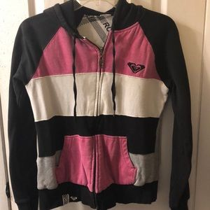 Roxy reversible hooded zip up jacket